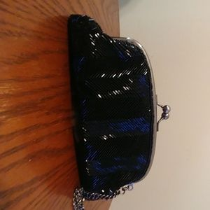 Black, beaded The Limited wristlet/clutch